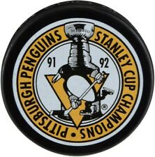 Pittsburgh Penguins 1991-1992 Nhl Stanley Cup Champions Souvenir Hockey Puck
