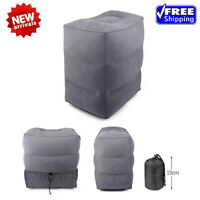 Inflatable Travel Footrest Leg Foot Rest Relax Cushion Pillow Pad Bed Washable