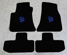 Autoteppich Fußmatten für Dodge Challenger Hellcat ab Bj2008 Velours Nubuk blau
