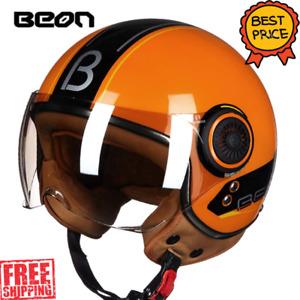 BEON B-100B Retro Ultra 3/4 Half Face Vintage ABS Motorcycle Helmet