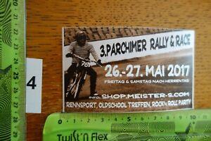 Alter Aufkleber Motorrad Motorsport PARCHIMER RALLY&RACE 2017 Shop Meister