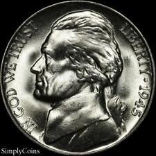 1945-D Jefferson Silver War Nickel ~ Gem Bu Uncirculated ~ Luster! Us Coin Mq