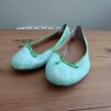 J Crew Green lace Ballet Pumps US 7.5 UK 5