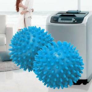 2x Blue Laundry Washing Tumble Dryer Balls Washing Helper Clothes Softener