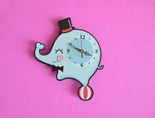 Little Circus Elephant Cartoon Wall Clock