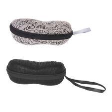 2x Eyeglass Sunglasses Glasses Cases Protector Storage Box Pouch Black Gray