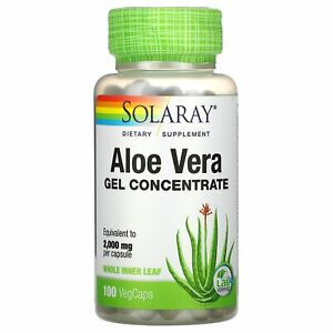 Aloe Vera Gel Concentrate, 100 VegCaps