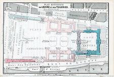 75 Paris - Louvre 1896 pt. plans (4) orig Tuileries Musées Cours Visconti Lefuel