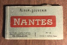 Vintage Souvenir 12 Postcard Album Folder Nantes France - Chapeau no. 3