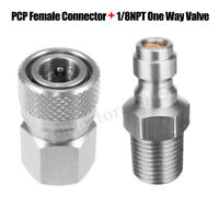 Paintball Female Connector + 1/8'' One Way Valve Foster HPA/N2 Fill Nipple