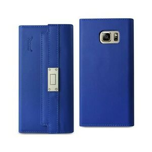 For Samsung Galaxy Note 5 Case Leather Wallet RFID Protection & Belt Ultramarine