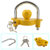 NEW UNIVERSAL HIGH SECURITY HITCH LOCKS CARAVAN TRAILER COUPLING TOW BALL LOCK