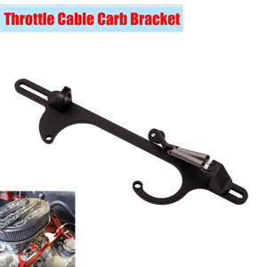 Black Aluminum Throttle Cable Carb Bracket for Holley 4150 or 4160 Carburetors