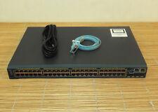 Cisco WS-C2960S-F48TS-L 48x10/100 Fast Ethernet ports, 4xSFP, LAN Base FlexStack