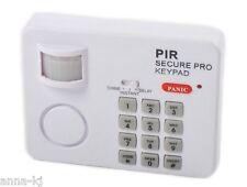 Buglar Security Alarm Motion Sensor Keypad Wireless Safety For Home Garage Shed
