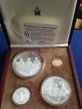 1987 Mexico Mint Salute the US Constitution 4 Coin Silver & Gold Proof Set E5746
