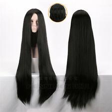 Long Black Straight Wig Cosplay Women Hair Wigs 100cm Lady Hallowmas Silky