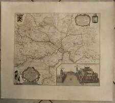 GHENT FLANDERS BELGIUM 1660 BLAEU UNUSUAL ANTIQUE ORIGINAL COPPER ENGRAVED MAP
