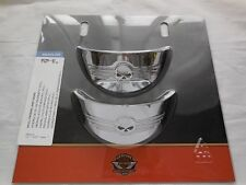 Harley willie g skull passing light lamp visors touring electa glide softail