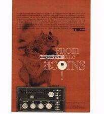 1961 TEC S-15 Stereo Amplifier FM-15 Tuner Hi-Fi Squirrel Vtg Print Ad