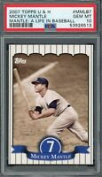 Mickey Mantle New York Yankees 2007 Topps U&H Baseball Card #MMLB7 PSA 10