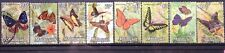 Malaysia Used Stamps - 8 pcs 1970 Butterflies