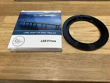 Lee Filter 72mm Lens Adaptor Ring