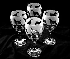 More details for english springer spaniel dog wine glasses.  boxed