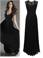 Women Ladies Bridesmaid Dresses Cocktail Long Chiffon Prom Gowns Evening Party