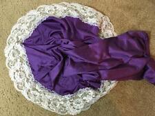 New listing Vtg Vassarette Gorgeous Purple Half Slip White Lace Nylon Medium M Two Tone