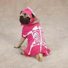 Glow Bones Pink Dog Halloween Costume Pet Costume XS-L sizes Glows in the Dark!