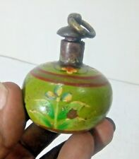 OLD VINTAGE RARE HAND PAINTED  IRON SMALL GUN POWDER POT