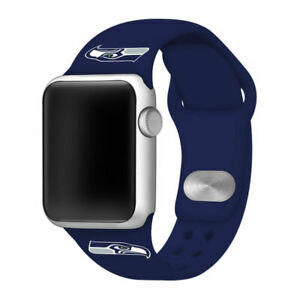 Seattle Seahawks Silicone Sport Band Compatible With The Apple Watch