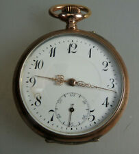 Gute offene Herrentaschenuhr Silber um 1900 (60291)