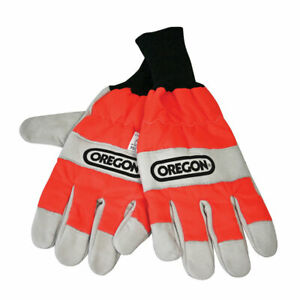 Oregon 91305XL Chainsaw Gloves Smooth Leather Durable Close-Fit Wrist -Large