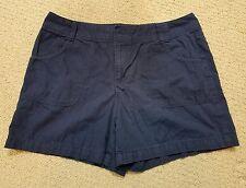 Women's St. John's Bay Ripstop Navy Blue Shorts 4 Pockets Sz 14 EUC