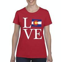 Love Colorado  Women Shirts T-Shirt Tee