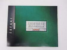 2001 GMC Safari Van SLE SLT Conversion Cargo Sales Brochure Catalog Literature