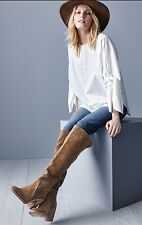 Vince Camuto 'Melaya' Color Bark Verona Suede Over The Knee Boots Size US 9