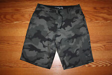 NWT Mens DA HUI Hawaiian Boardshorts Hybrid Swimshorts Trunks Olive Camo Sz 34