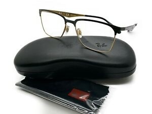 Ray Ban Eyeglasses RB6344 RX/6344 RayBan 2890 Gold/Black Optical Frame 56mm