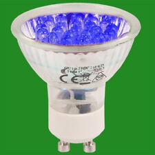 6x 1.3w + 21 Led Gu10 Color Bombillas Foco Azul Naranja Rojo Luz Baja Lámparas