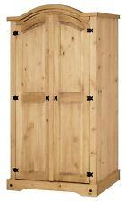 Corona 2 Door Arched Top Double Wardrobe - Mexican Solid Pine, Rustic