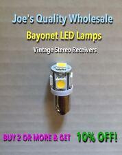 (6)BAYONET LED LAMP 6.3V/AC/WARM or COOL WHITE- TU-666 FRONT PANEL LIGHTS