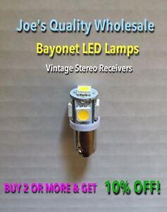(6)BAYONET LED LAMP 6.3V/AC/WARM/COOL WHITE-/BA9s/SA 800,SA600,SA500 SA1000/BULB