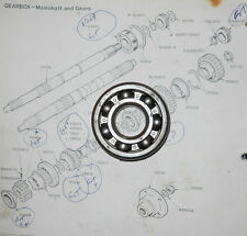 NOS 1st & 3rd Motion Bearing 104443.  Single Rail Triumph Spitfire & GT6.. \