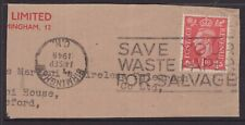 Great Britain 1948 KGV1 slogan cancel piece with CDS inverted?