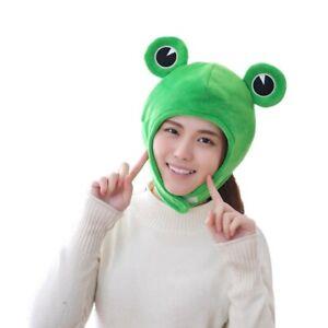 1PC Cartoon Funny Adorable Plush Frog Hat Cosplay Costume Dress Up Hat Headgear