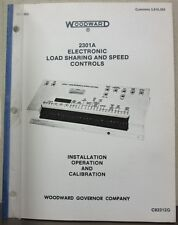 Woodward 2301A Electronic Load Sharing & Speed Controls Install Operate Calibrat