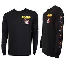Crash Bandicoot Long Sleeve Tee Shirt Black